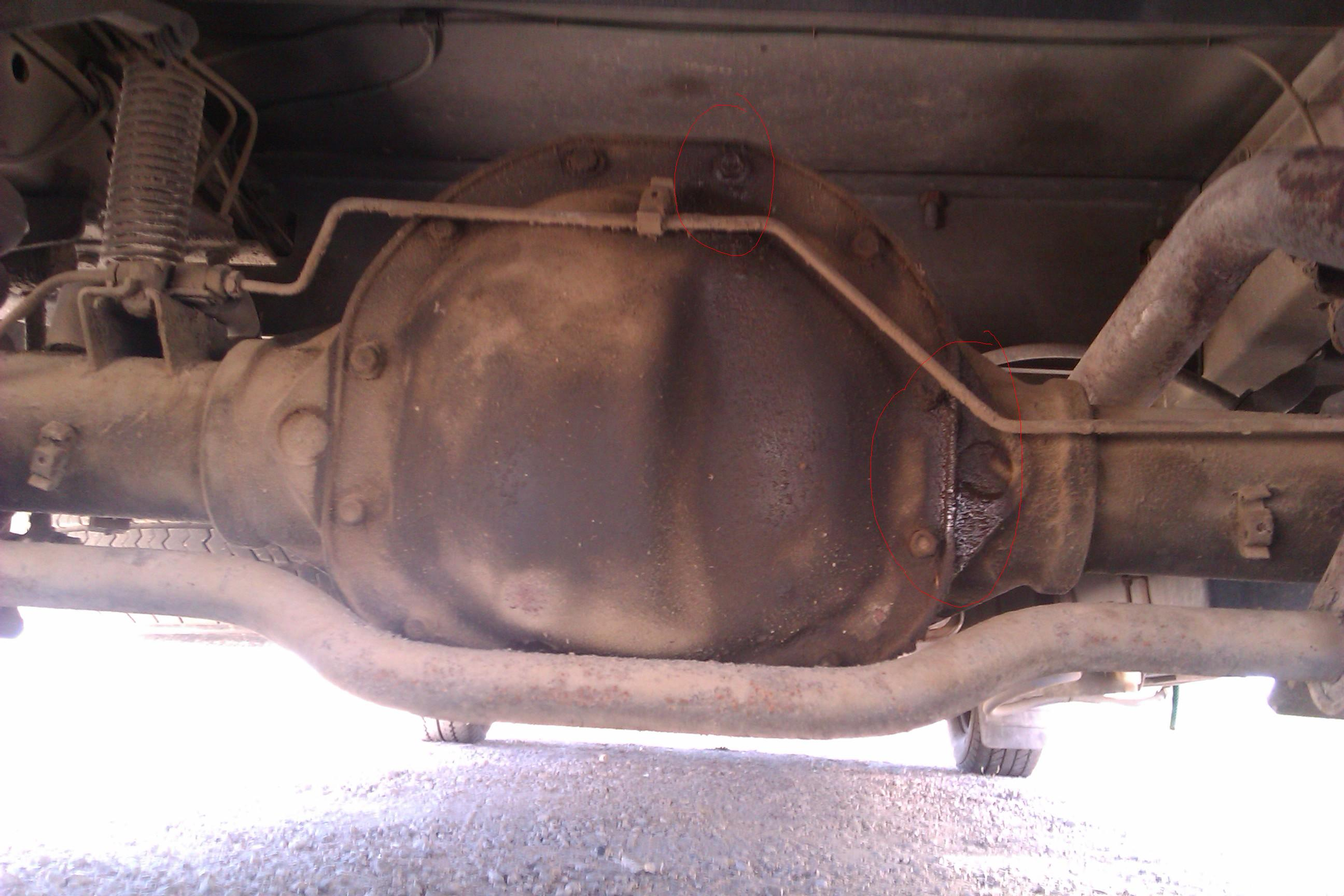 Ford Transit Forum • View topic - Minor Oil Leak - Rear of diff